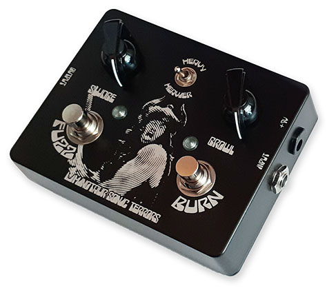 Fuzz and Burn electric Guitar Bass effect pedal stompbox fuzz overdrive silicon doom stoner metal electric wizard yob black sabbath sleep kyuss